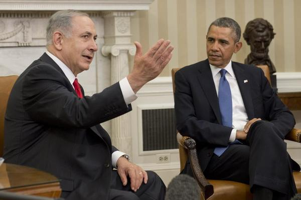 POTUS and Bibi Netanuahu in Oval Office