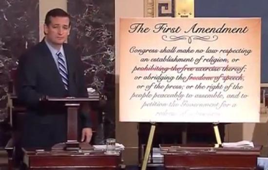 Ted Cruz First Amendment